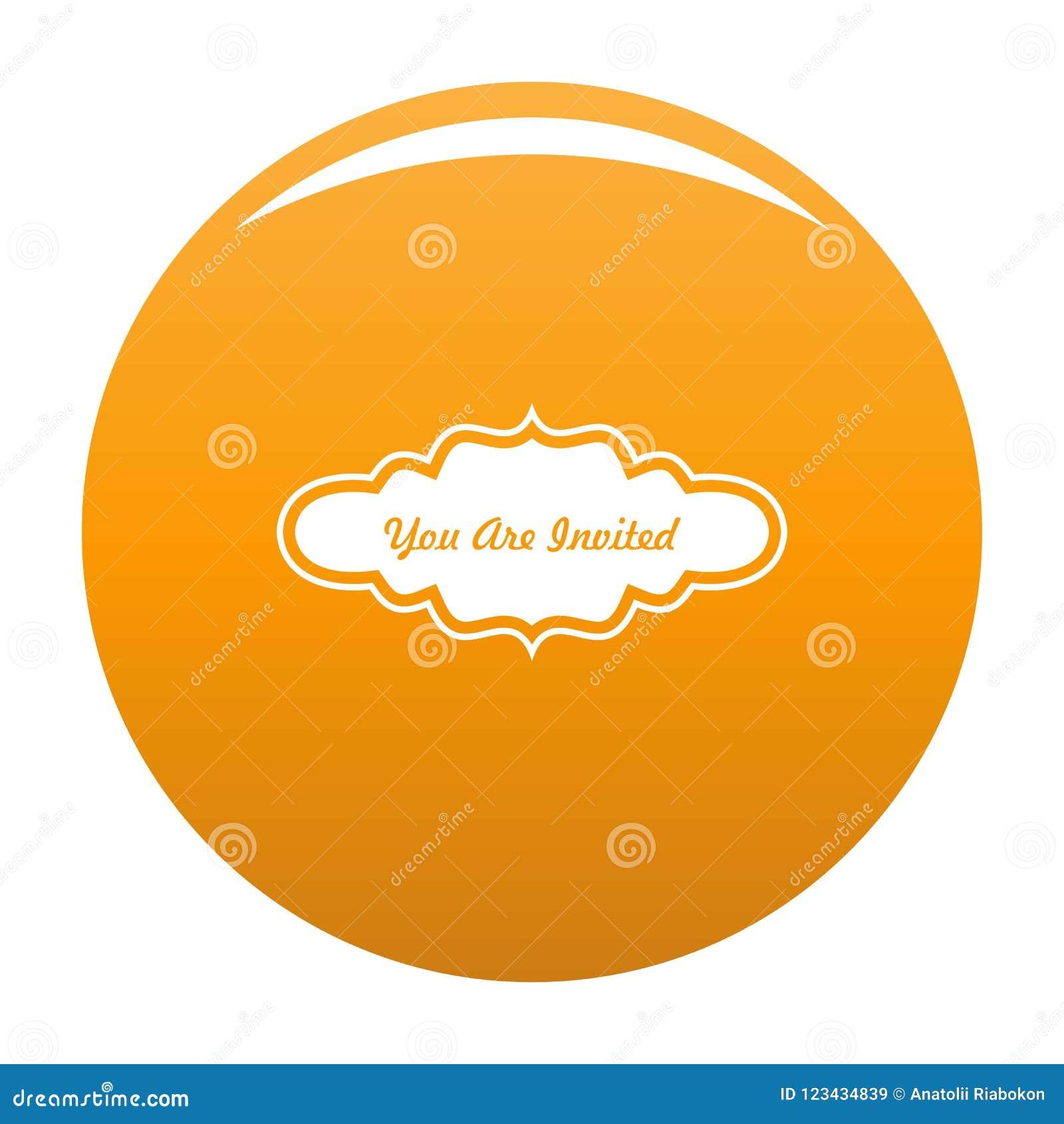 Call Label Icon Vector Orange Stock Vector Illustration Of Thanks