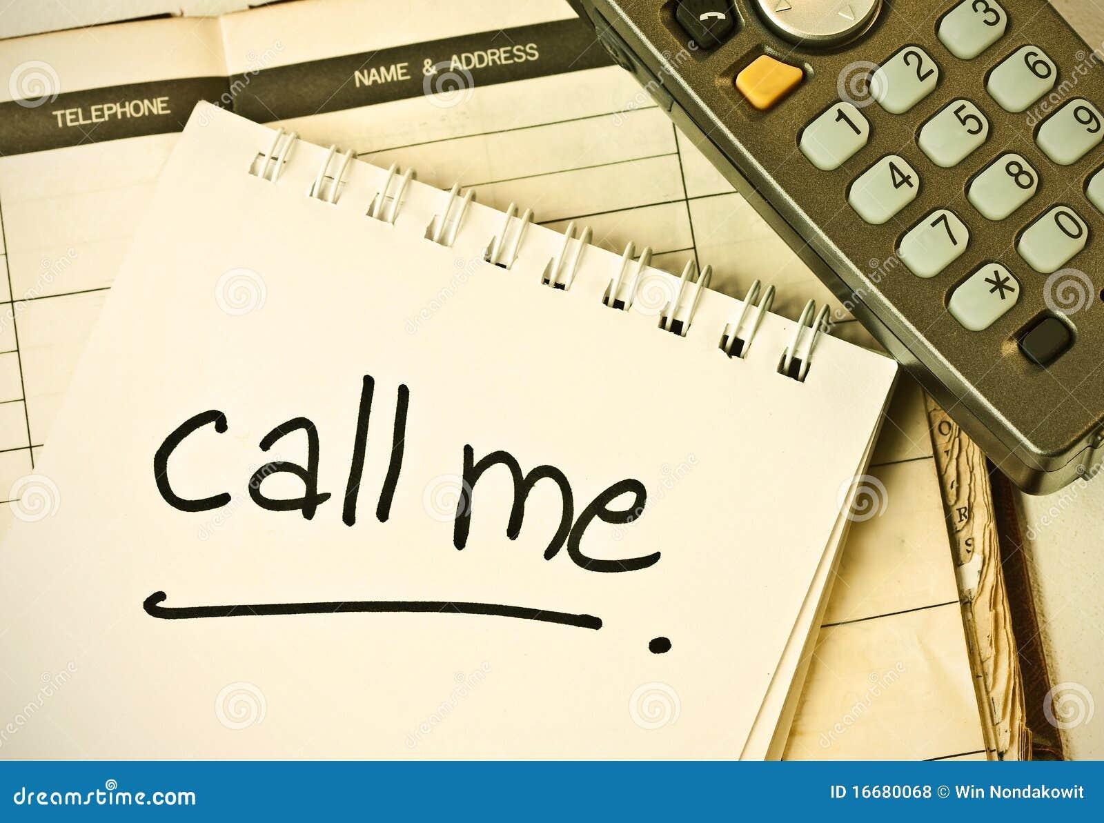 Call me stock photo  Image of urgent, remember, memo - 16680068
