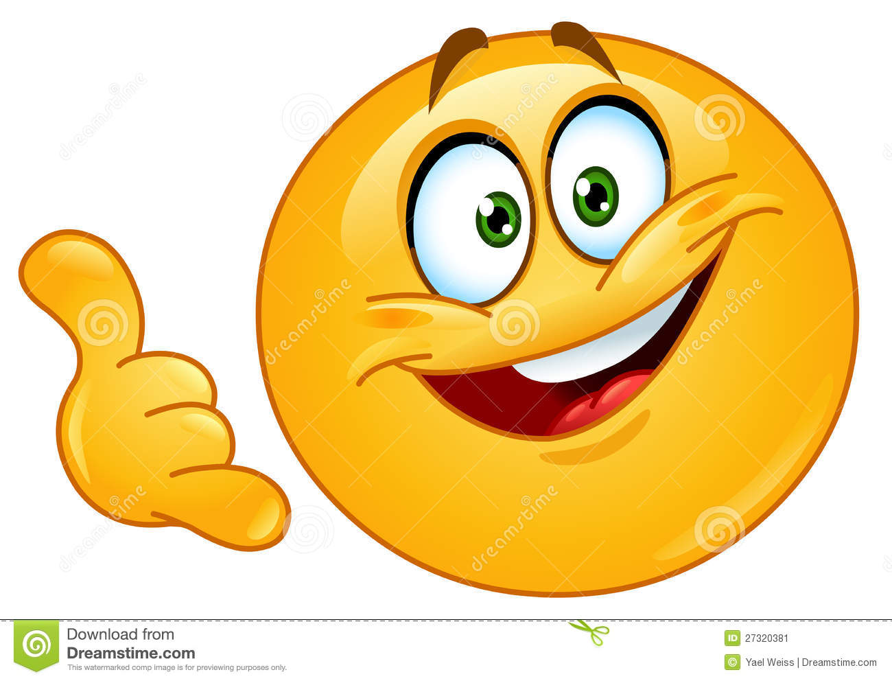 Call me emoticon Stock Image