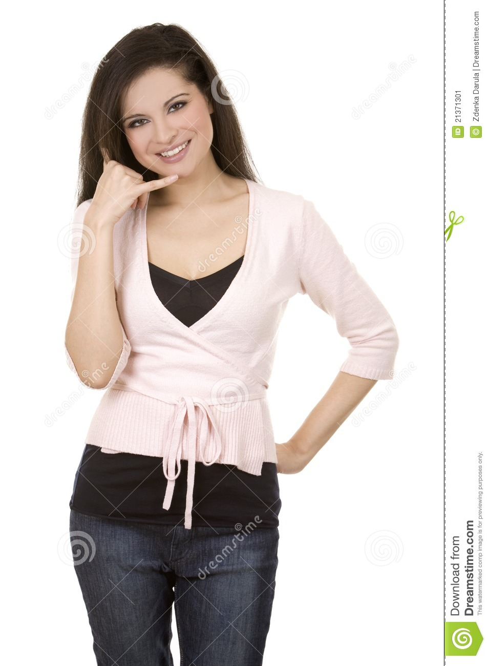 Call Me Gesture Stock Image - Image: 21371301