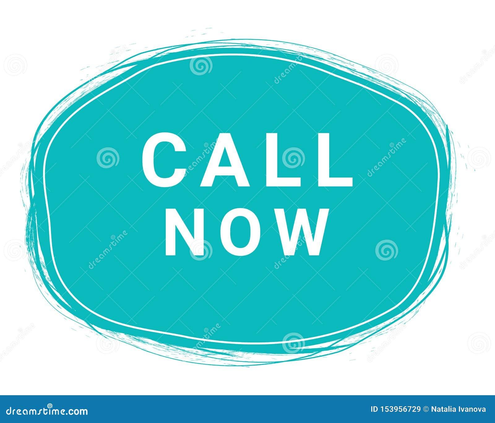 Call Now, Speech Bubble Banner, Element Design Template, App