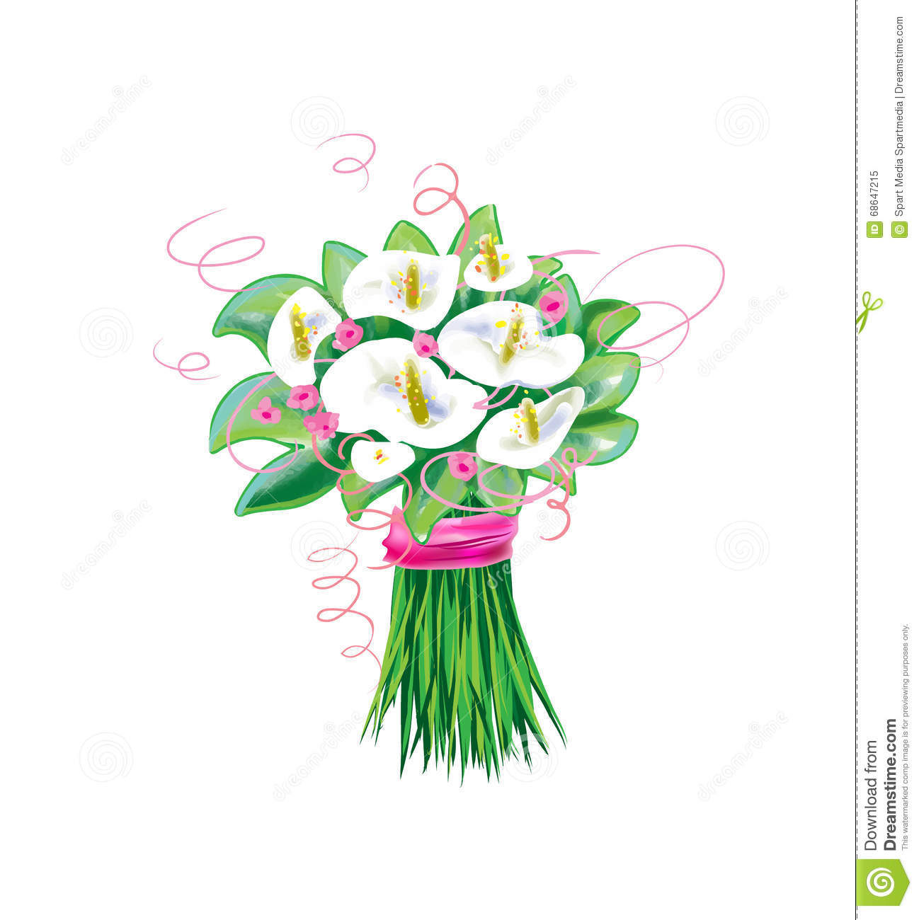 Download Calla Flowers, Bridal Bouquet Wedding Stock Vector - Illustration of garden, beautiful: 68647215