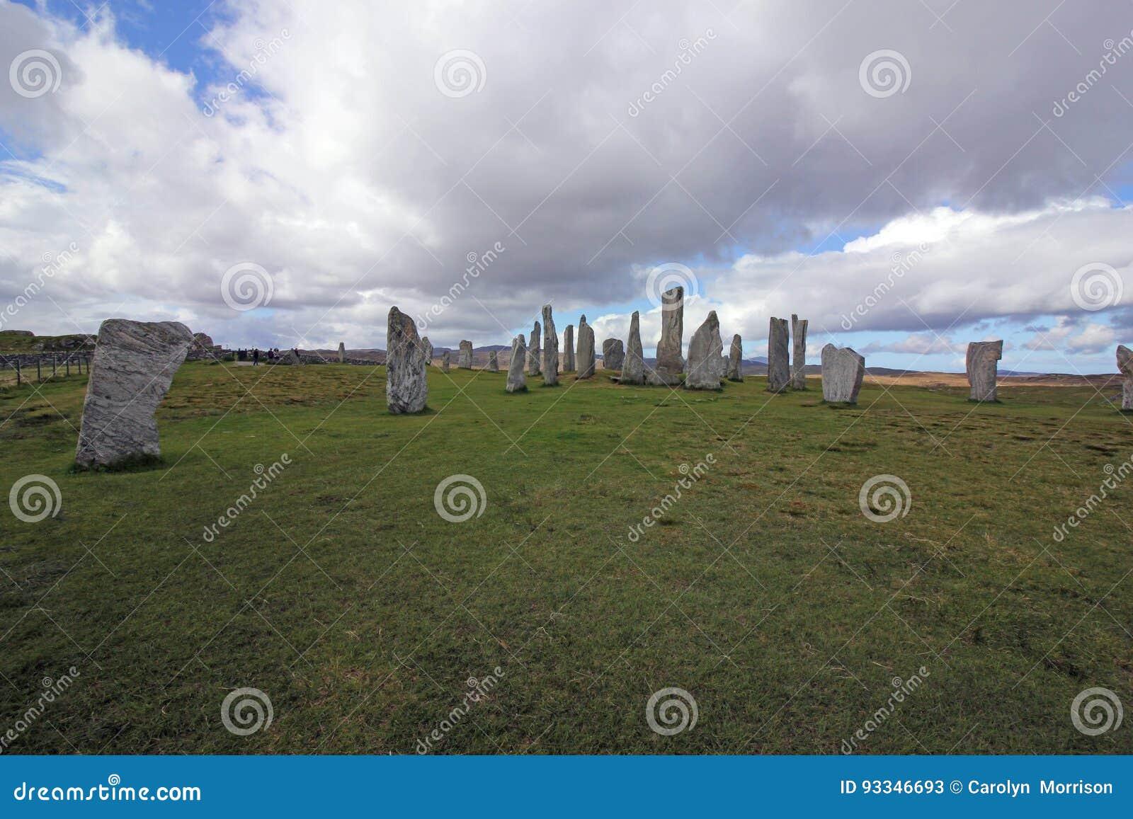Callanish常设石头,刘易斯,苏格兰小岛