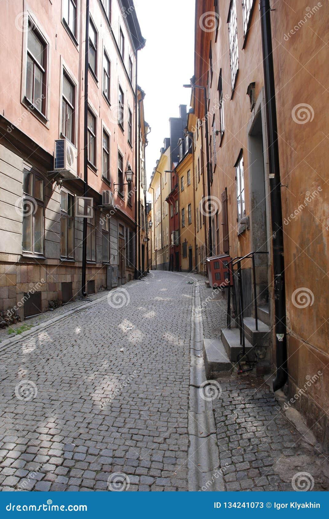 Calle abandonada de Estocolmo