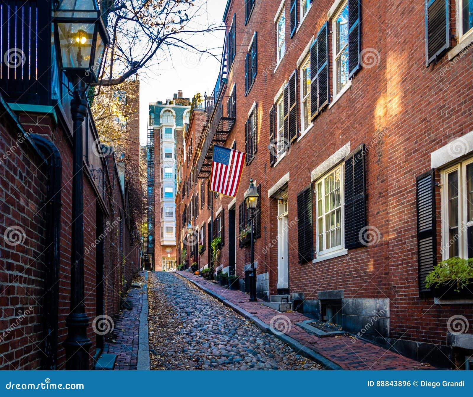 Calle de la bellota - Boston, Massachusetts, los E.E.U.U.