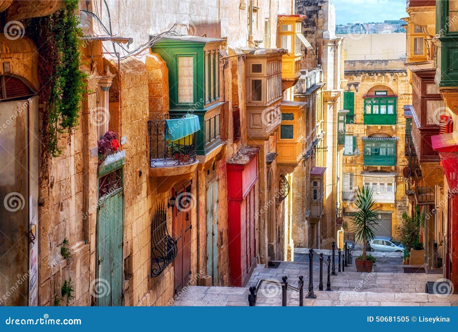 Calle de la ciudad de La Valeta