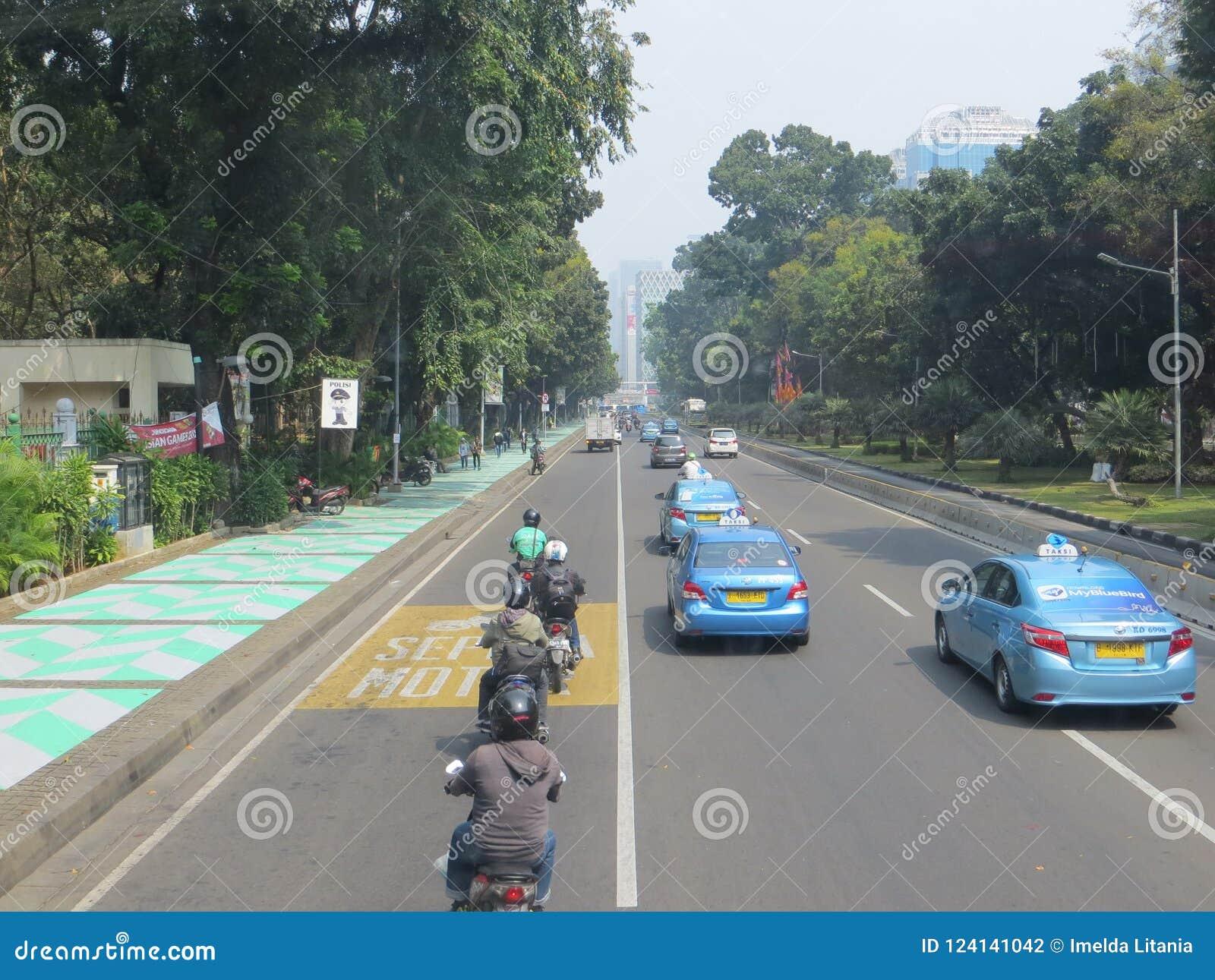 Calle de la ciudad de Jakarta