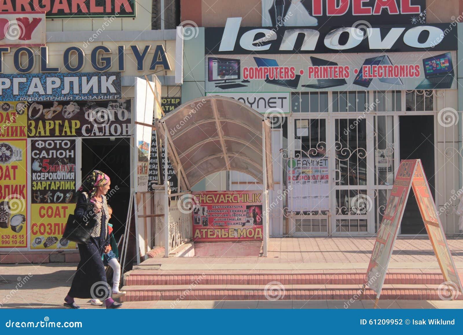 Calle de las compras en Andijan
