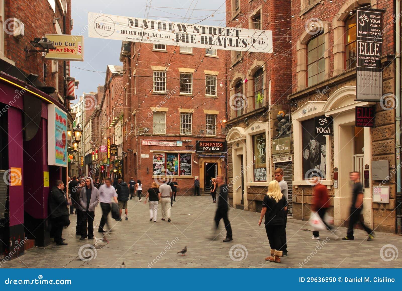 Calle De Mathew. Lugar De Nacimiento Del Beatles