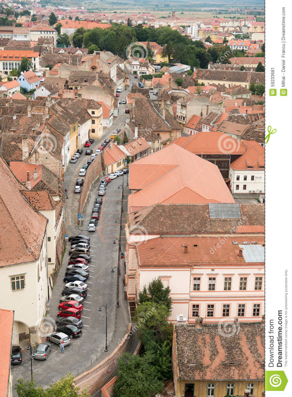 Download Calle de Sibiu foto editorial. Imagen de cultura, panorama - 59233681