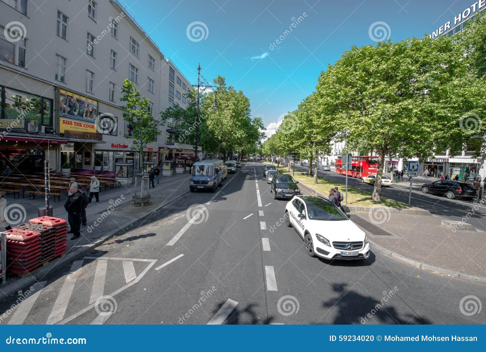 Download Calle en Berlín imagen editorial. Imagen de opiniónes - 59234020