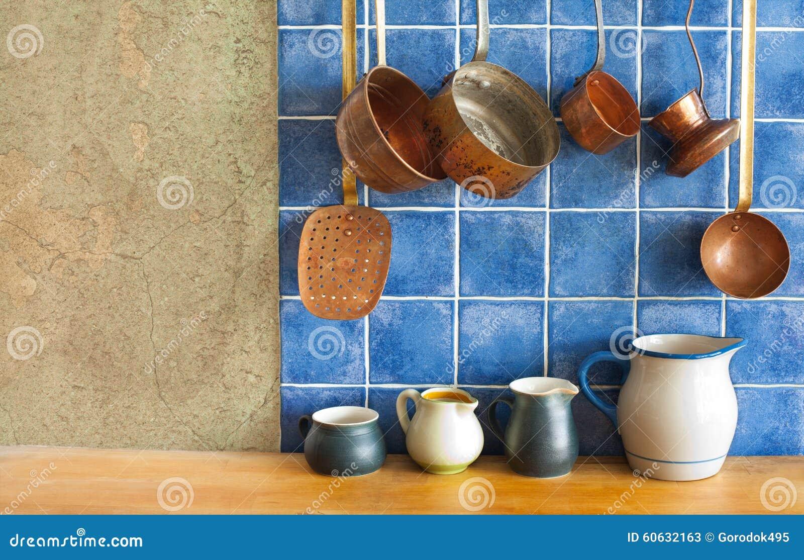 Calle Ligth Sistema Retro Colgante Del Artículos De Cocina Del Cobre ...