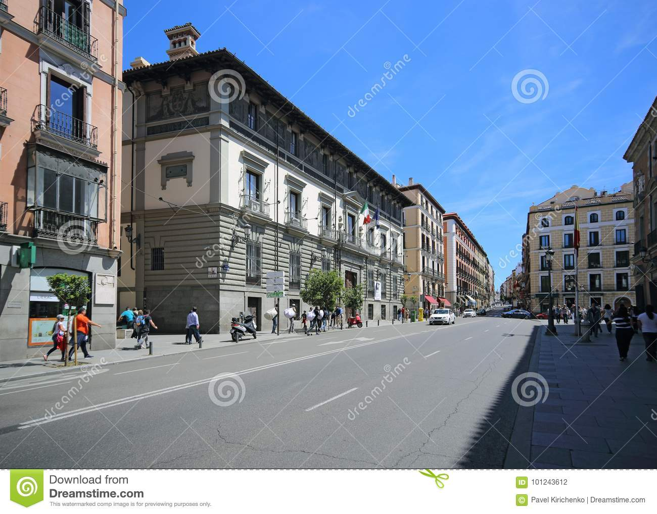 Calle Mayor In Madrid Spain This Street Is The Most Popular One