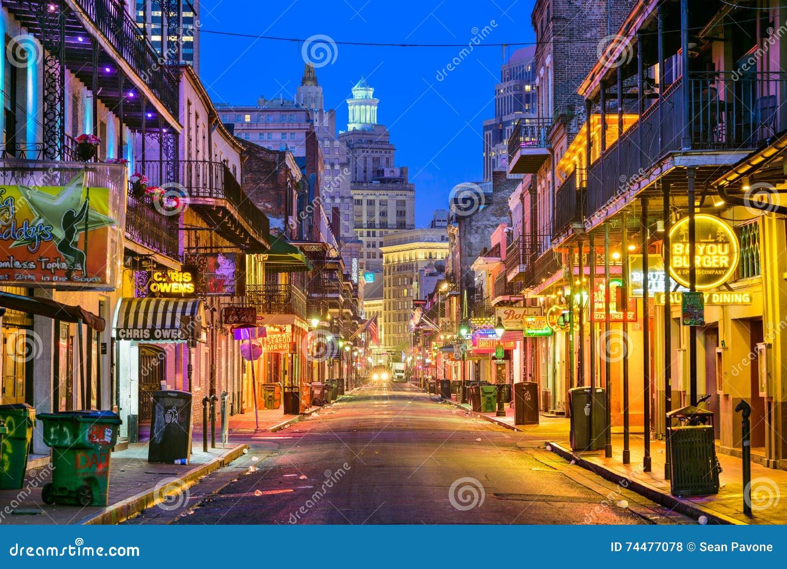 Calle New Orleans de Borbón