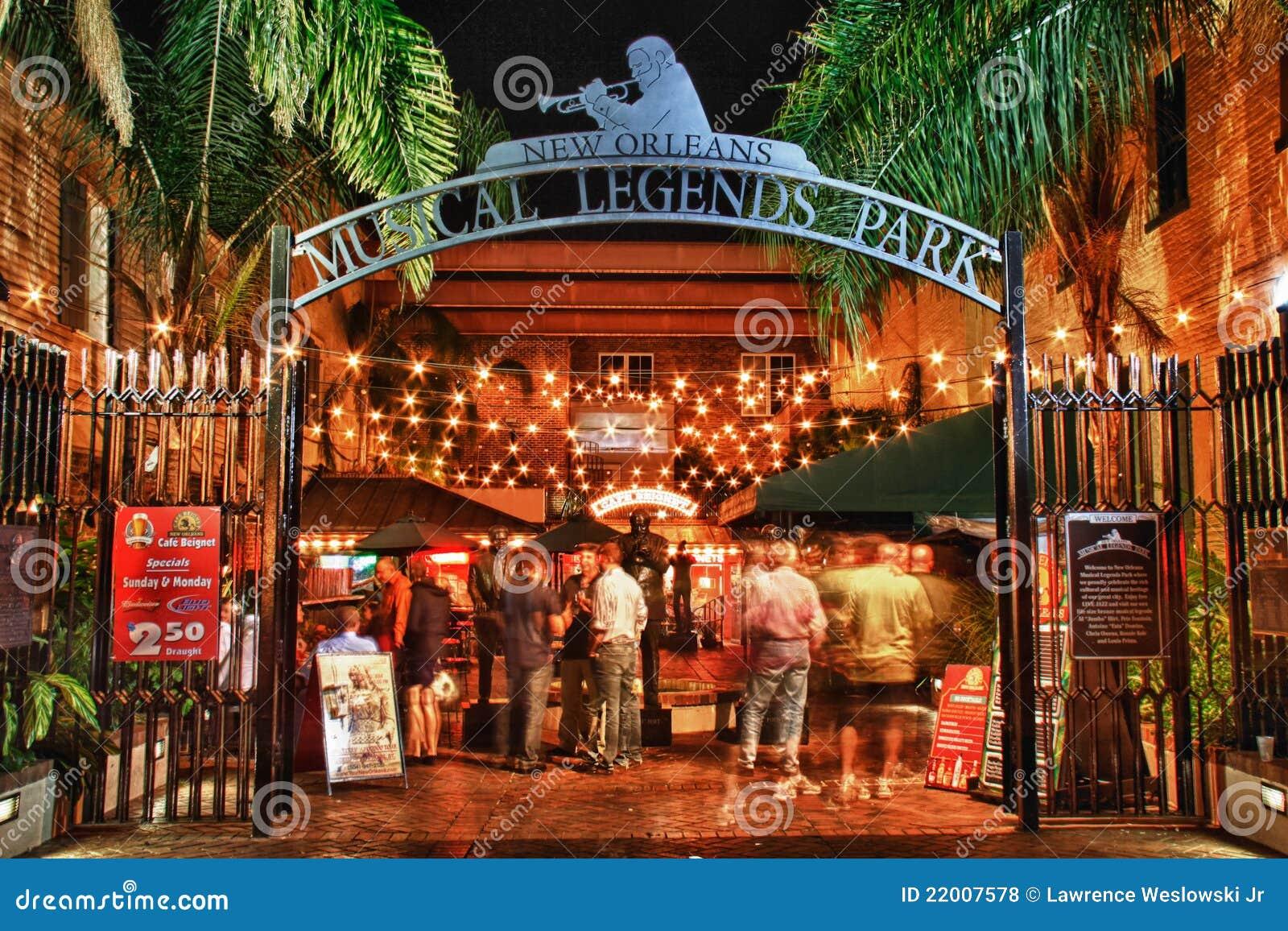 Calle New Orleans - parque musical de Bourbon de las leyendas