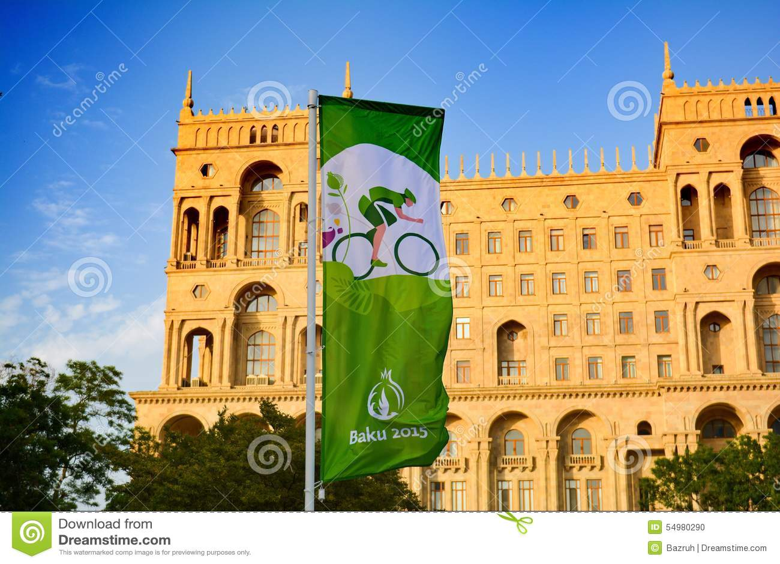 Calles de Baku, 1ros juegos europeos en Baku, cartel