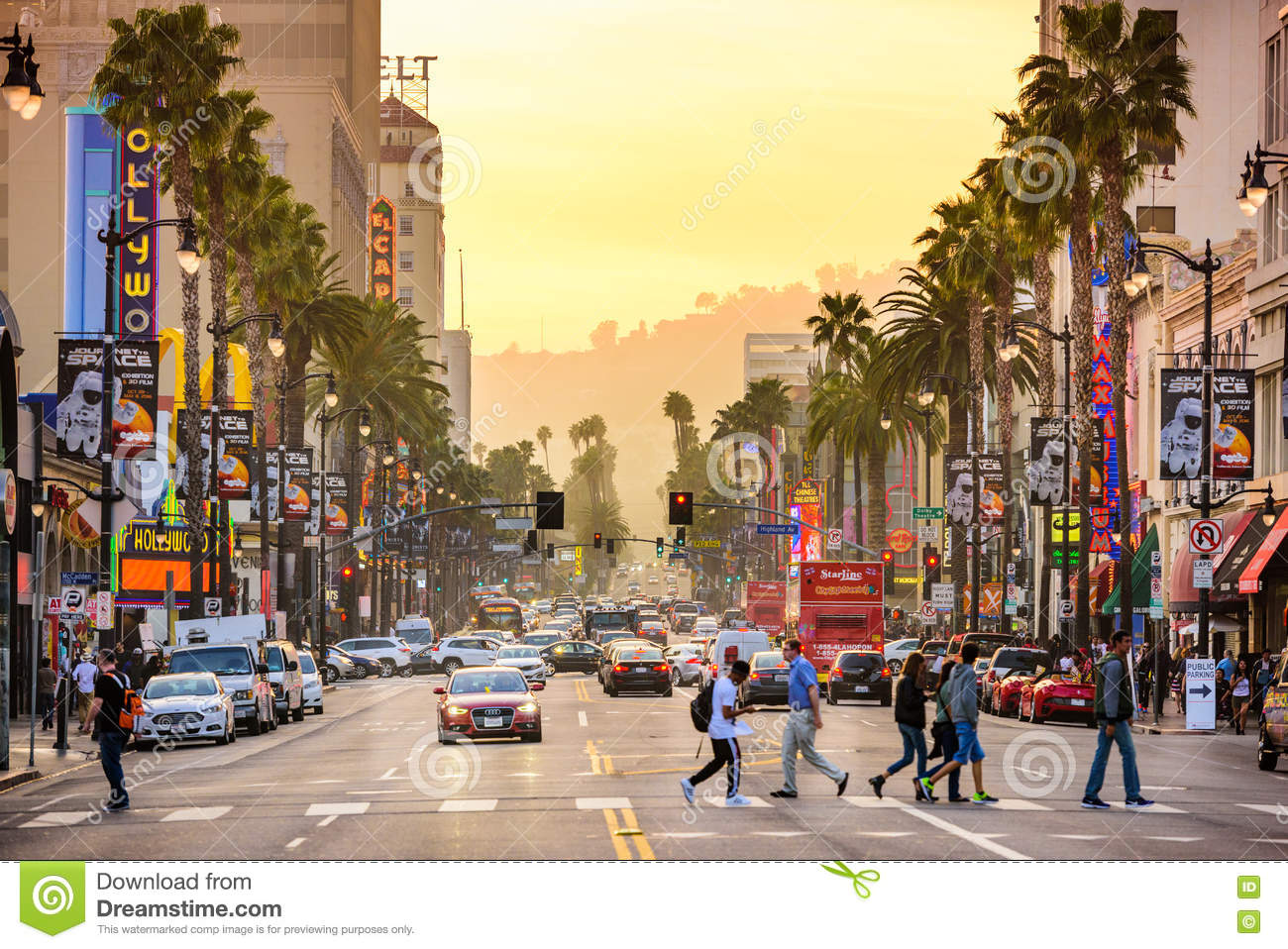 Calles de Hollywood California