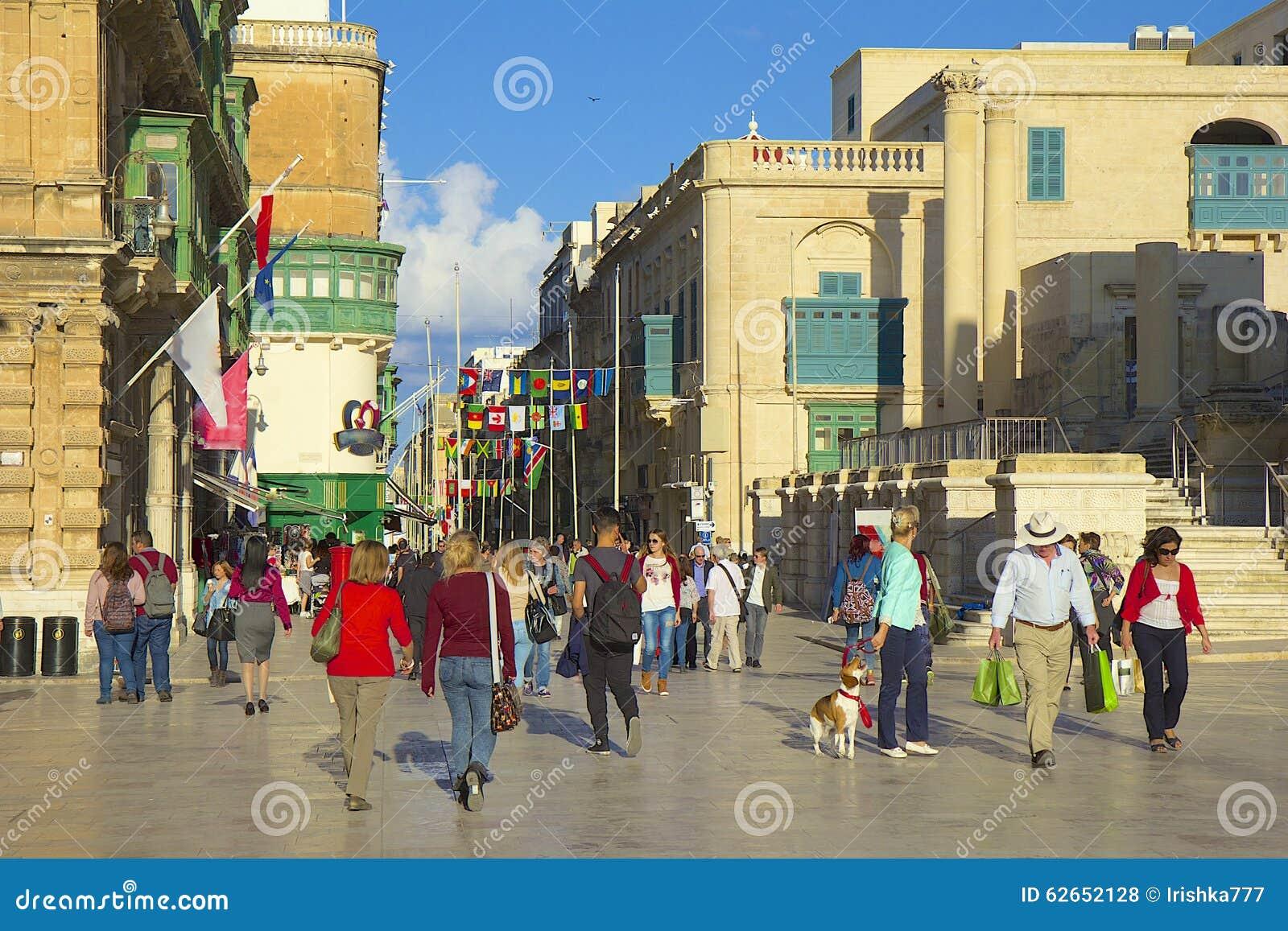 Calles de La Valeta, Malta