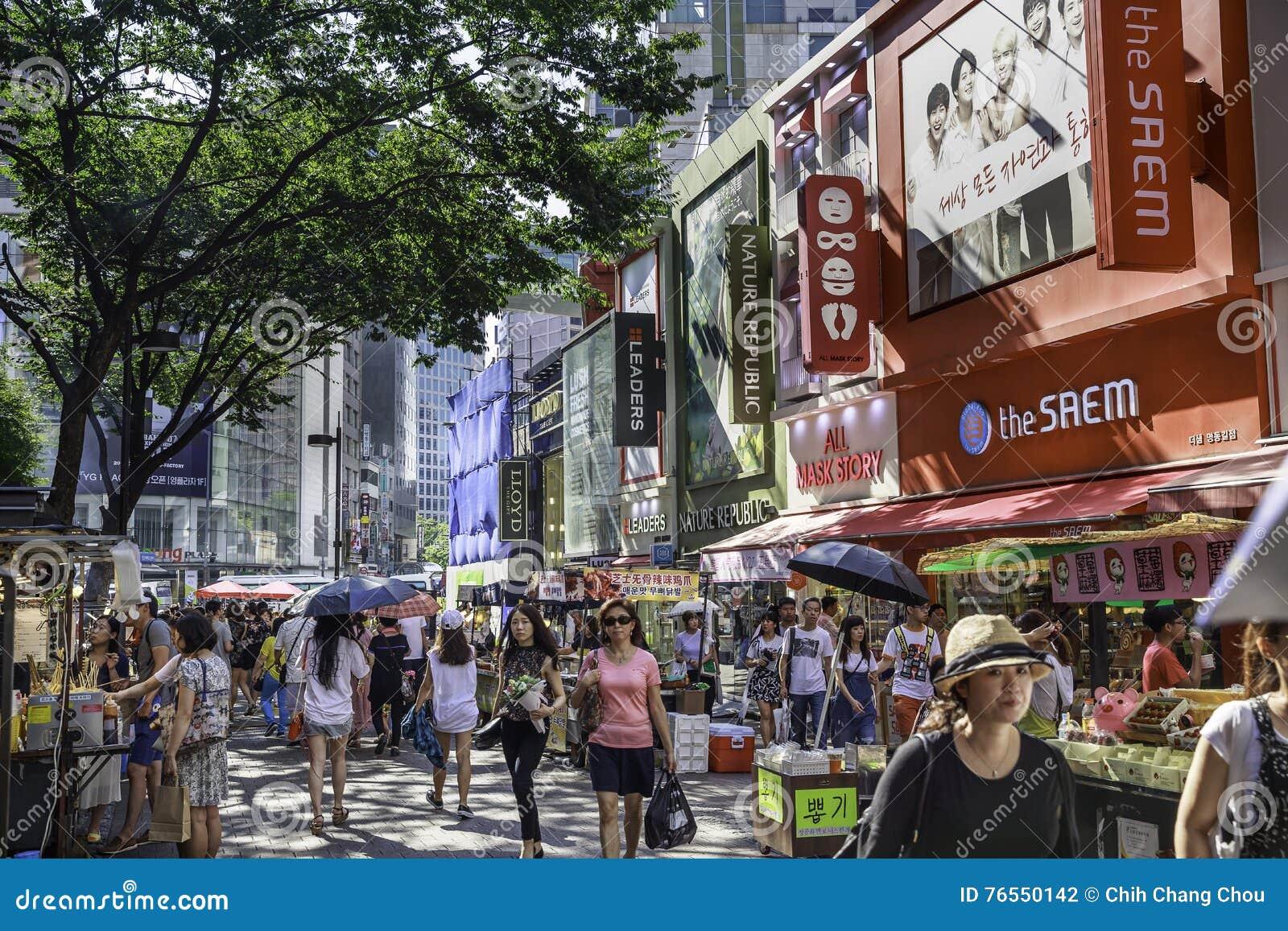 Calles de Myeongdong en Seul