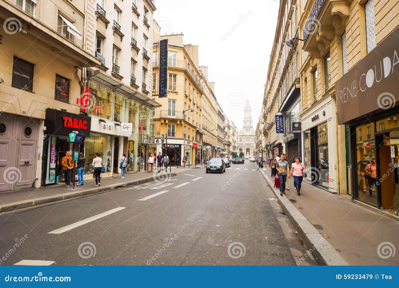 Download Calles de París imagen de archivo editorial. Imagen de hermoso - 59233479