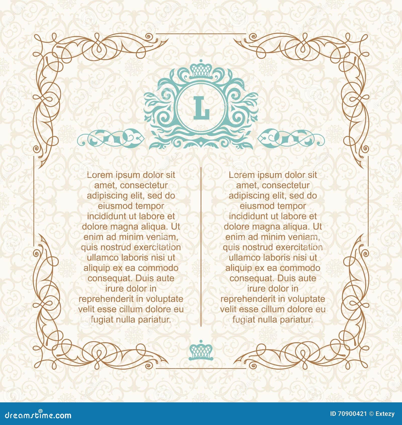 Design Template For Wedding Greeting Card Invitation Menu