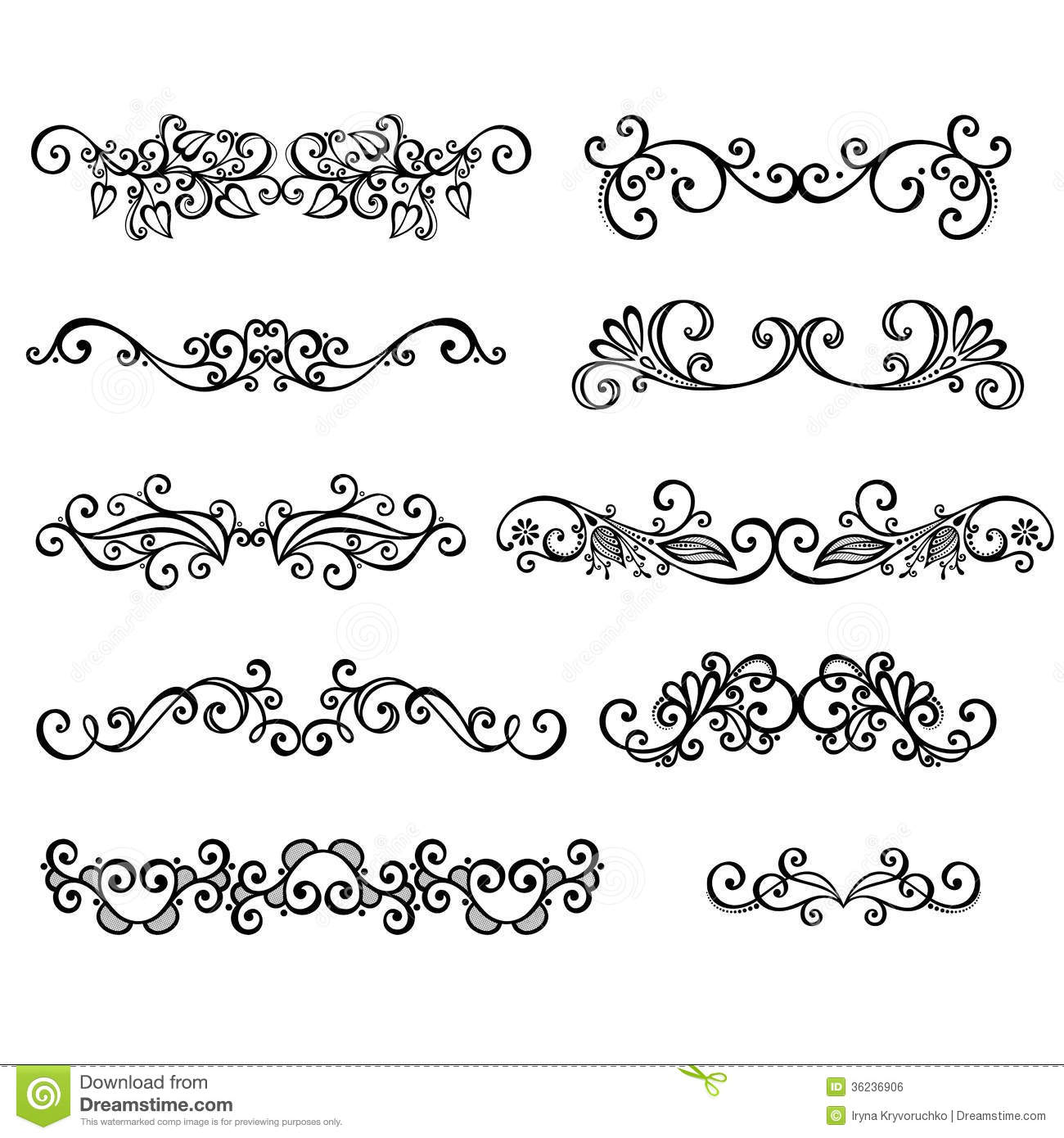 Calligraphic borders anctor d page decoration stock photo for Decoration page