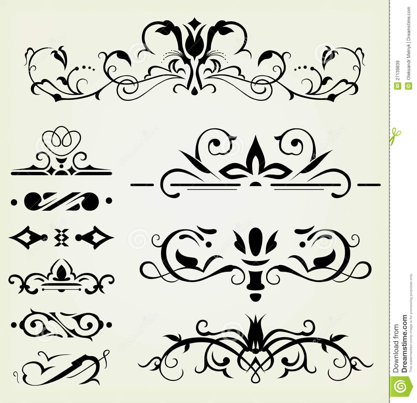 Calligraphic design elements royalty free stock images - Design elementi ...