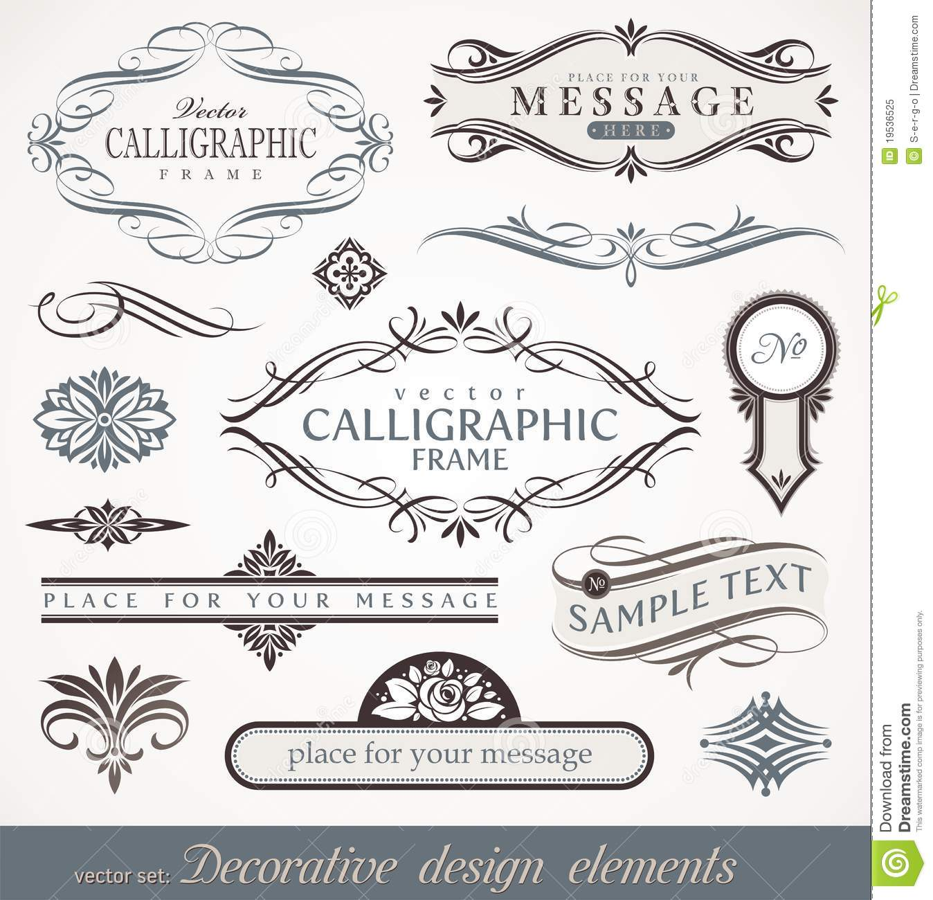 Elements By Design : Calligraphic design elements page decor stock vector