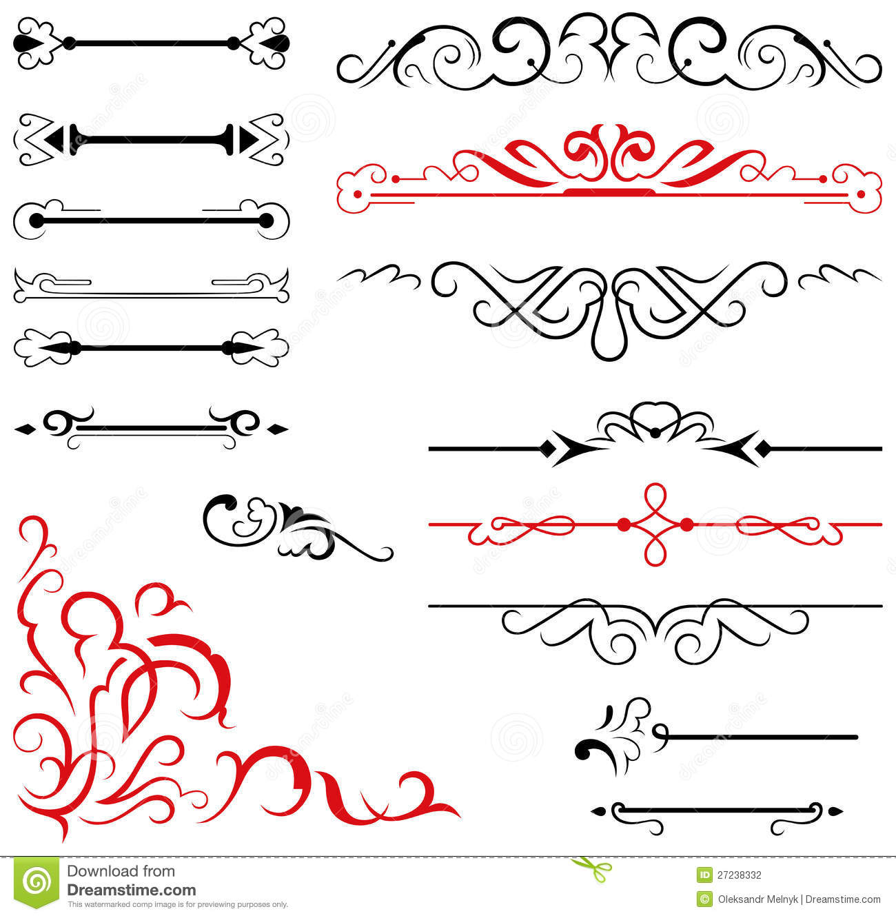 Calligraphic Design Elements And Page Decoration Stock