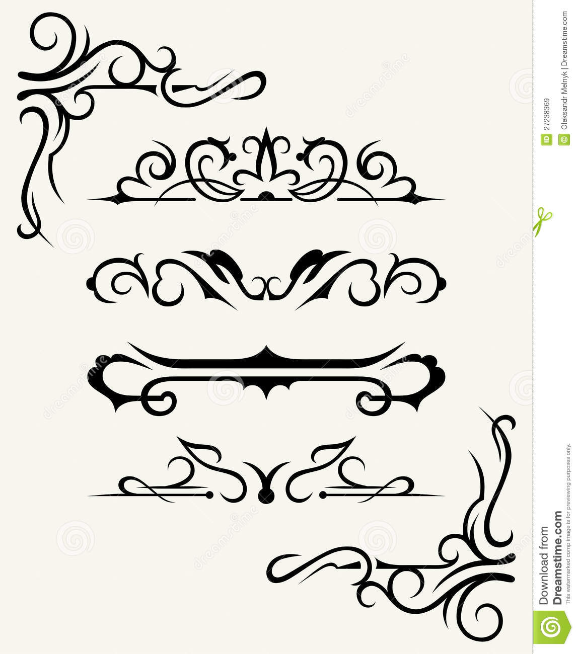 Download Calligraphic Design Elements And Page Decoration