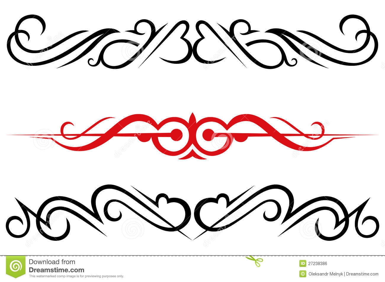 Calligraphic design elements and page decoration royalty for Decoration images