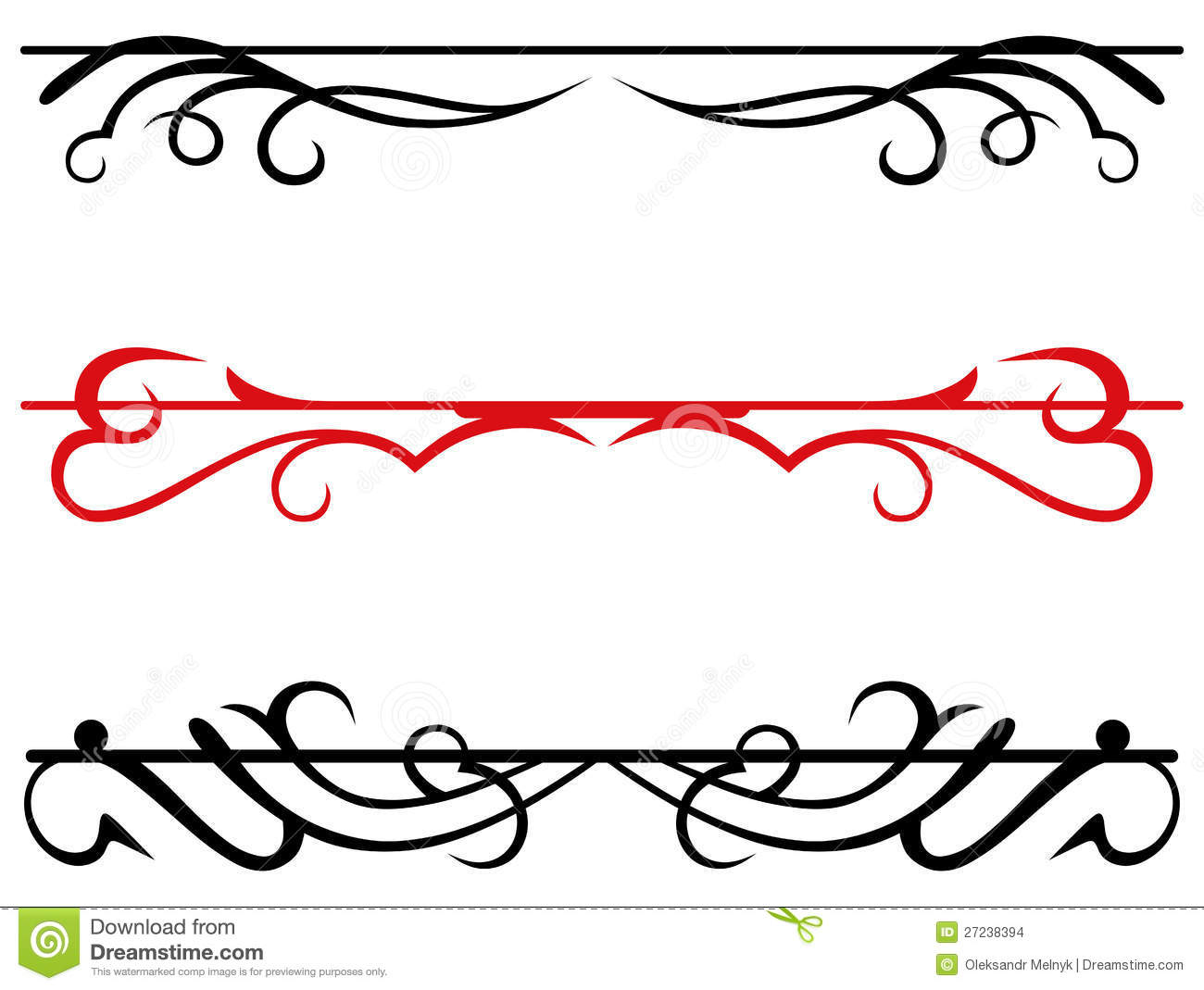 Calligraphic design elements and page decoration stock for Decoration page
