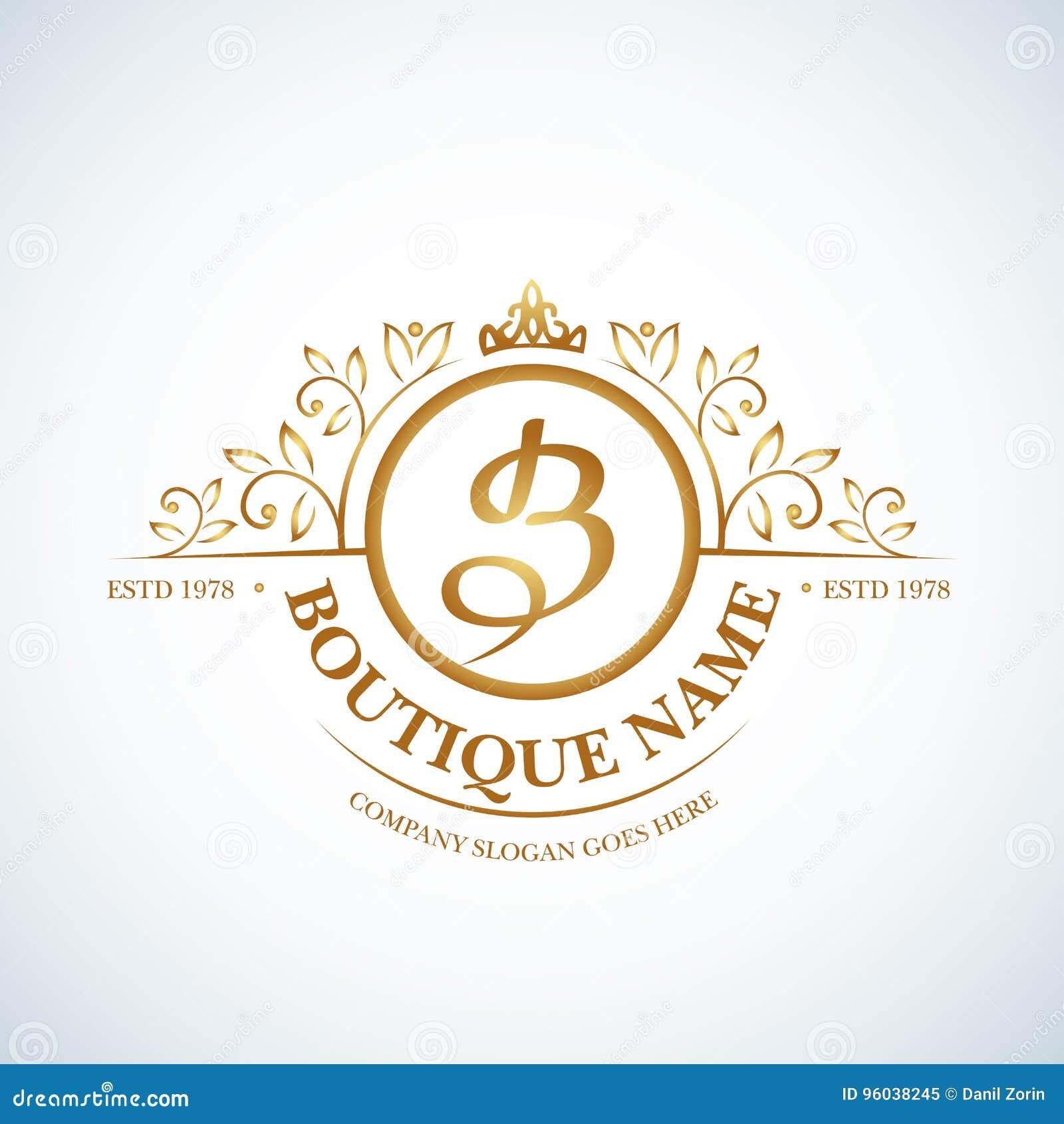 Calligraphic Elegant Line Art Logo Design. Letter Emblem B. Business ...