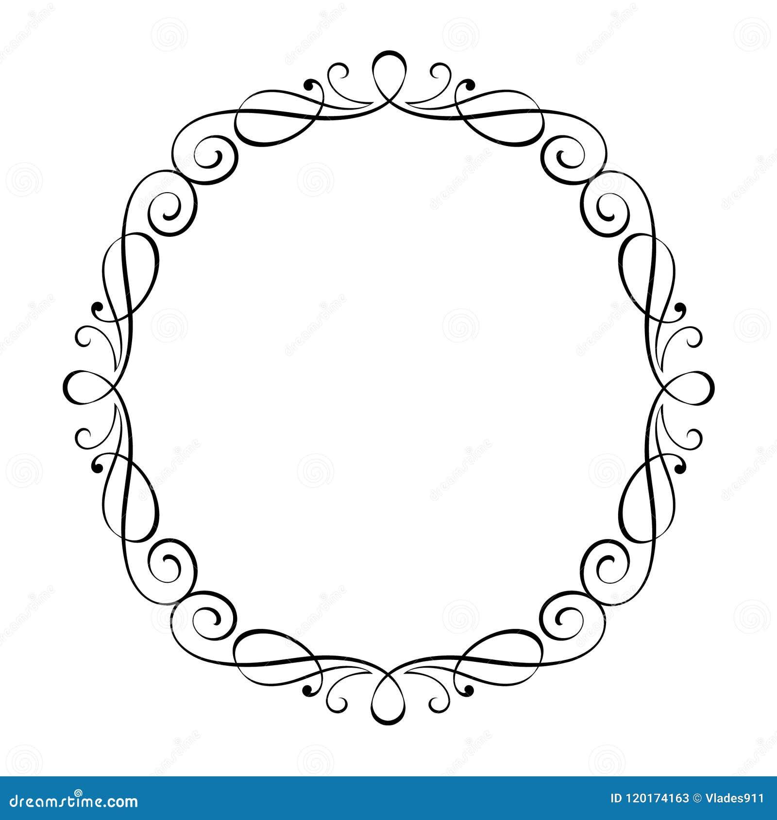 Calligraphic Elegant Vector Retro Frames .Vector. Stock Vector ...