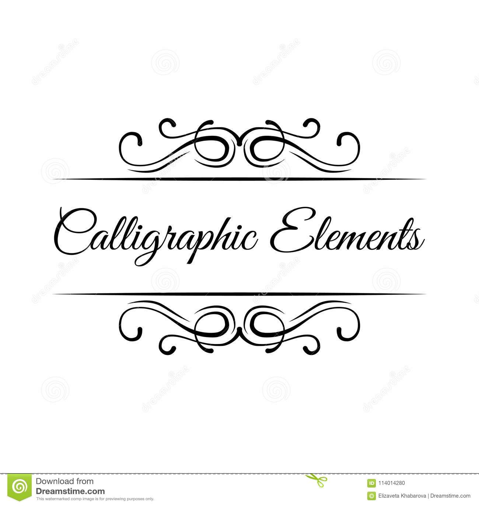 Download Calligraphic Elements Vintage Frame Border Scroll Floral Ornament Decorative Design Element Vector