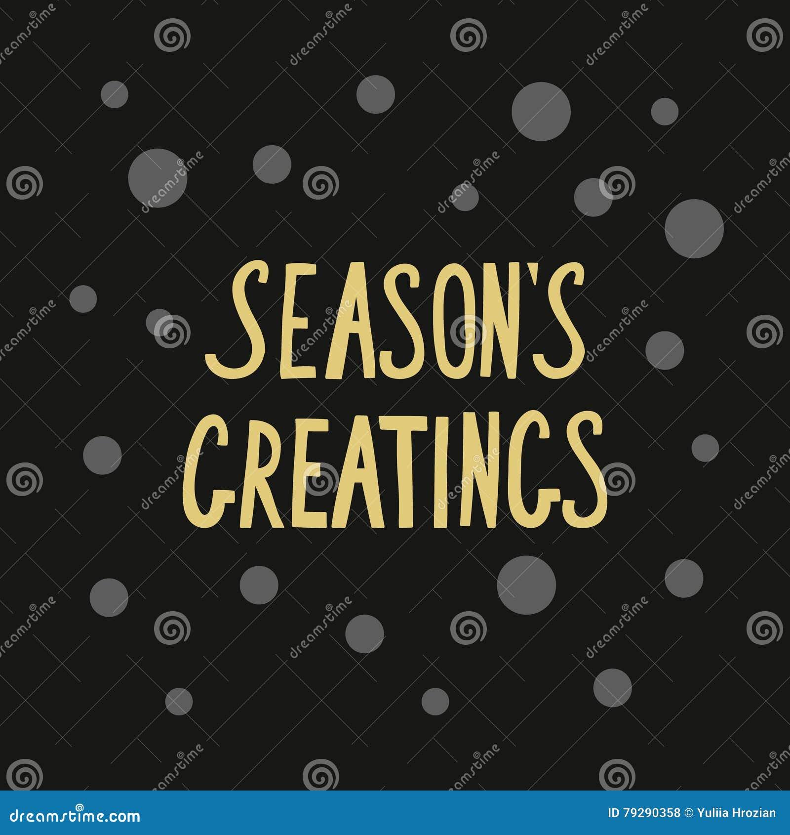 Calligraphic golden phrase seasons greetings for card or banner calligraphic golden phrase seasons greetings for card or banner kristyandbryce Choice Image
