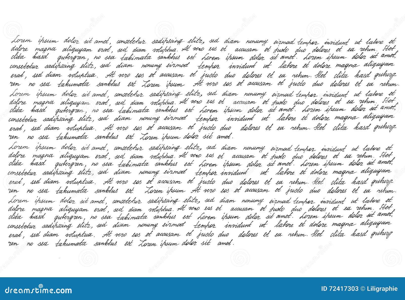 Calligraphic Handwritten Script Handwriting Manuscript