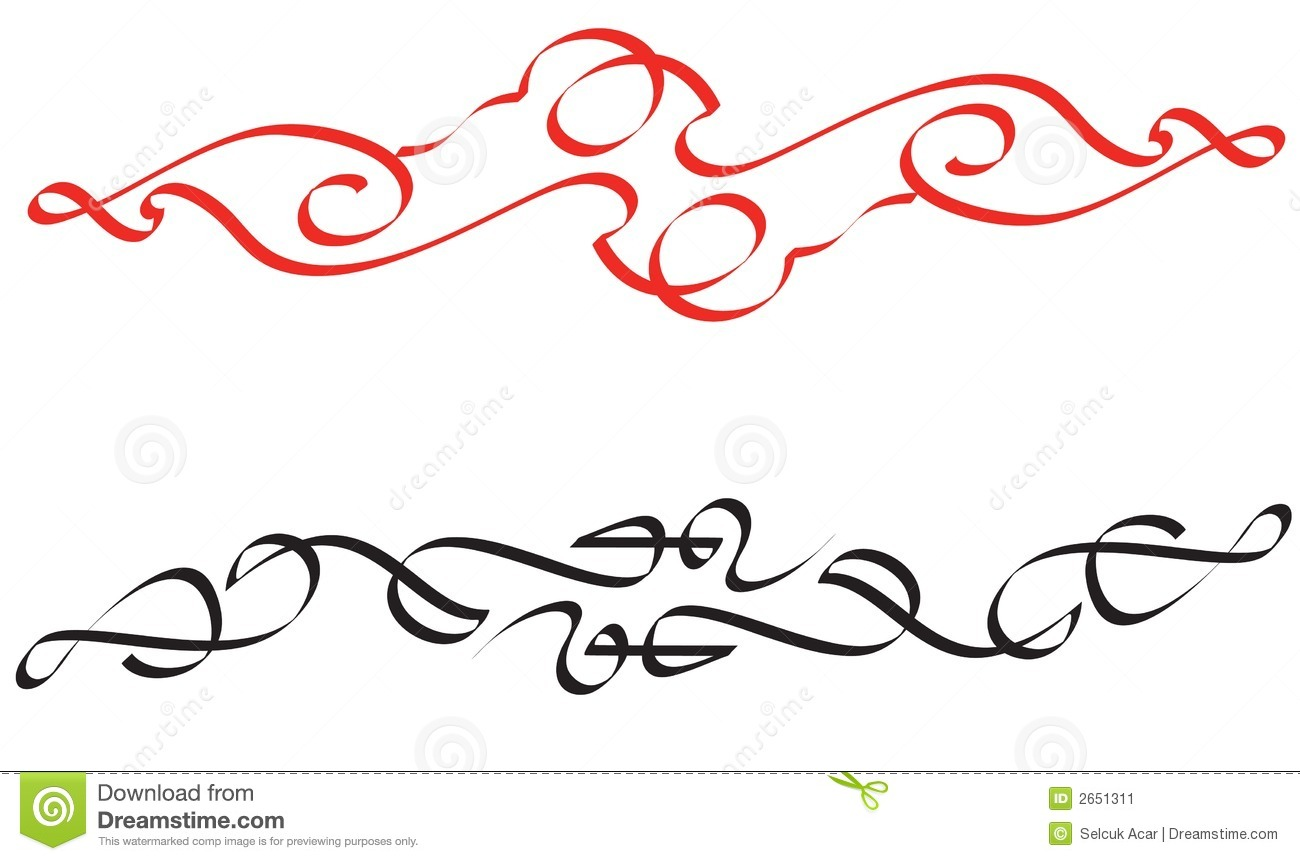 Calligraphic Items Stock Image Image 2651311