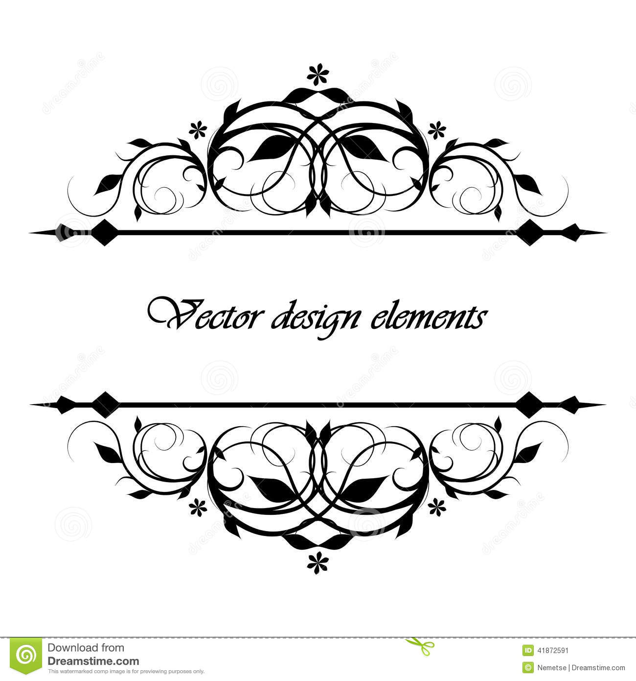 Calligraphic Patterns Stock Vector Illustration Of Menu