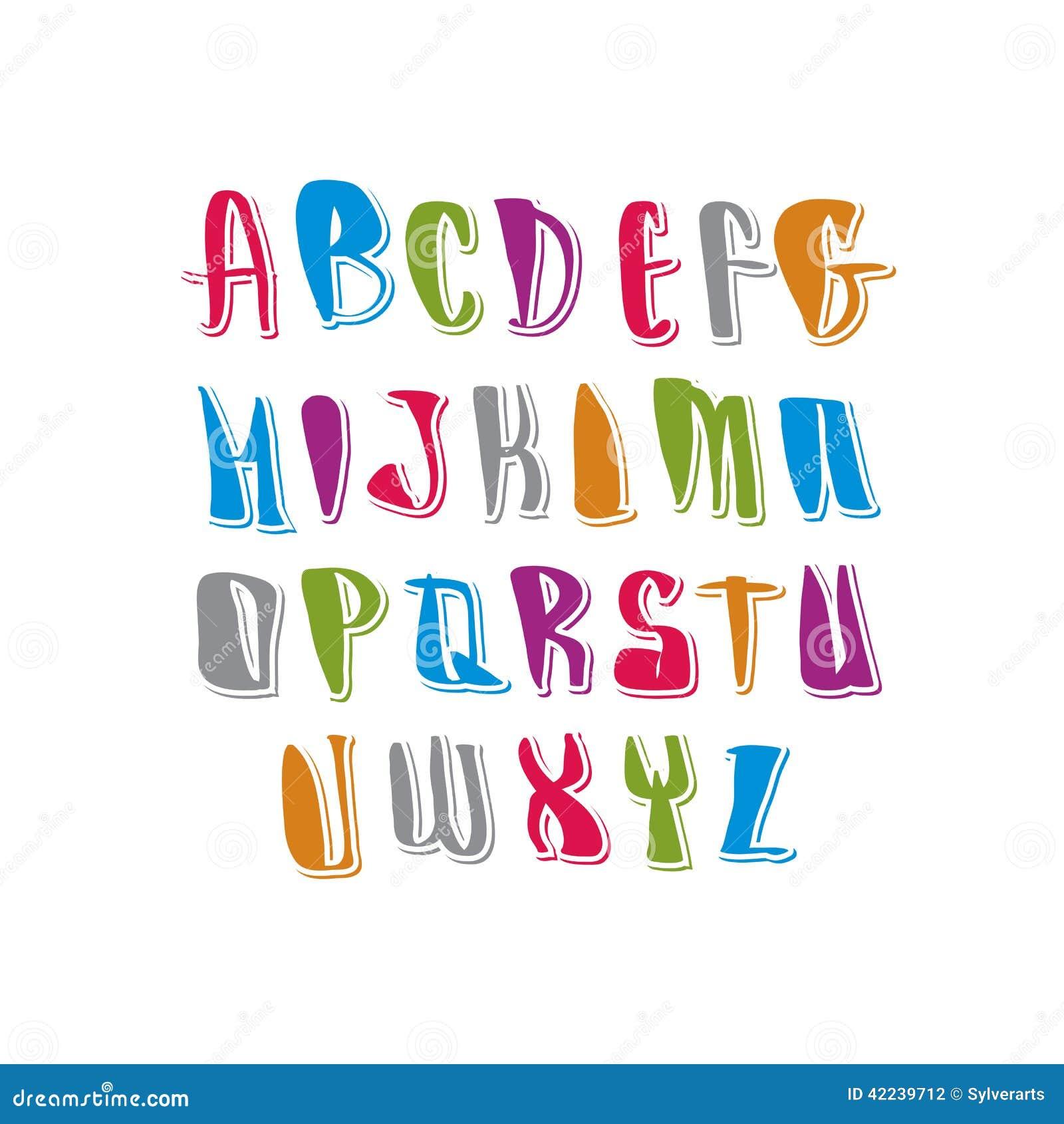 Calligraphic Script, Vector Alphabet Letters Set. Stock Photo - Image ...