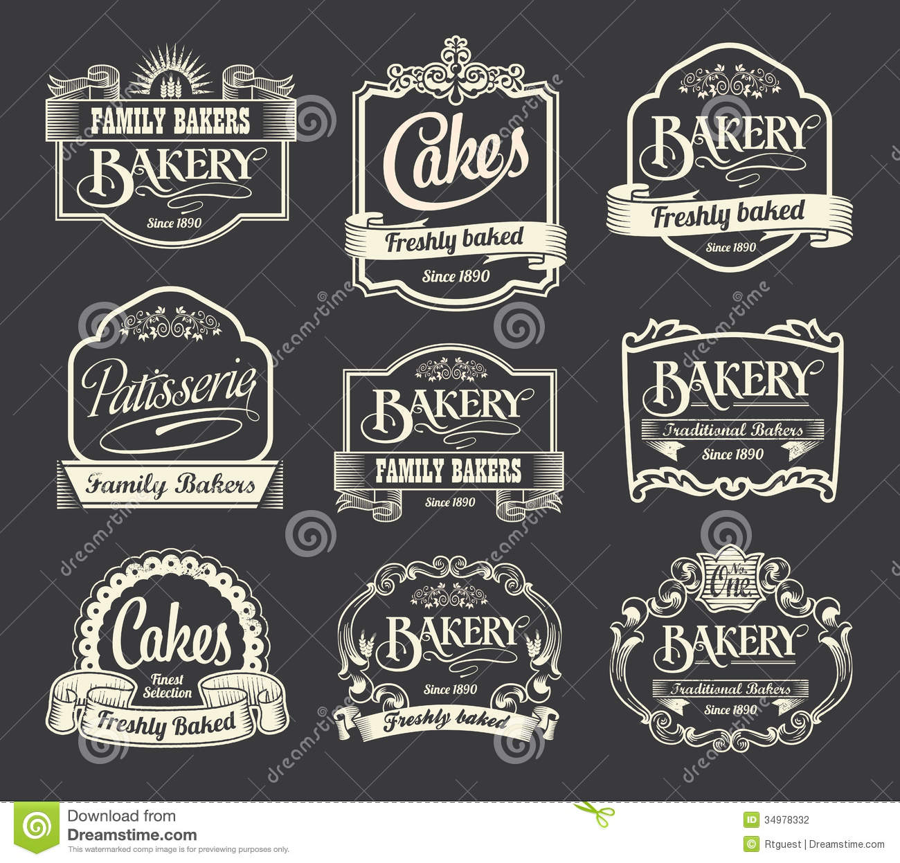 Calligraphic Sign And Label Design Set Stock Vector ...