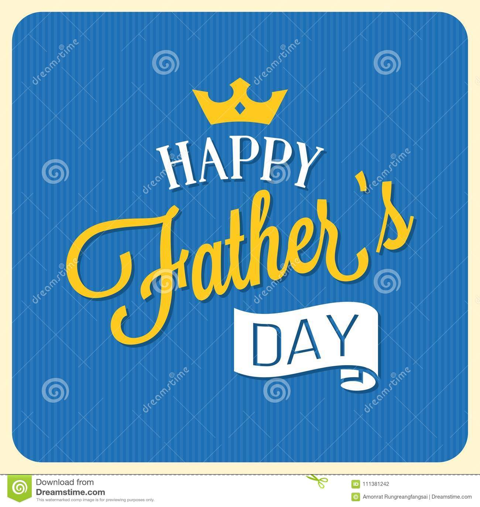 Calligraphic stilsort för lycklig dag för fader` s med beståndsdelar liksom band och kronan