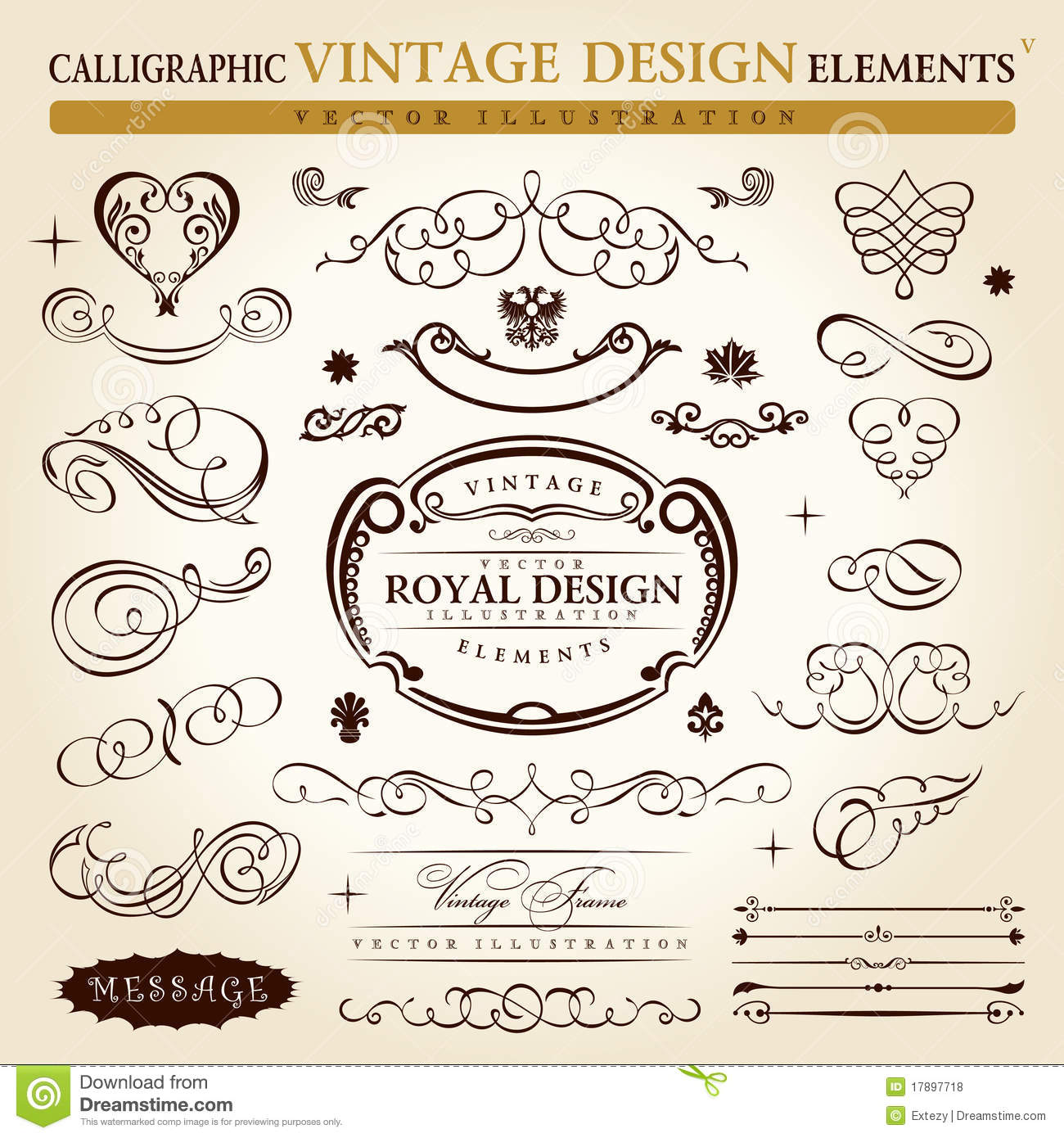 Download free vintage ornaments vintage ornaments and iders - Royalty Free Stock Photo Download Calligraphic Vintage Ornament