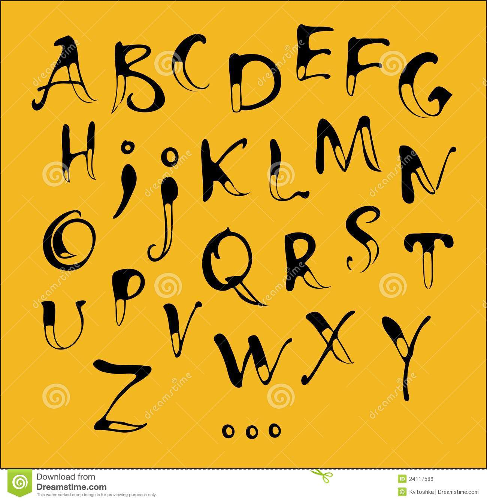 Calligraphy Alphabet Royalty Free Stock Image - Image: 24117586