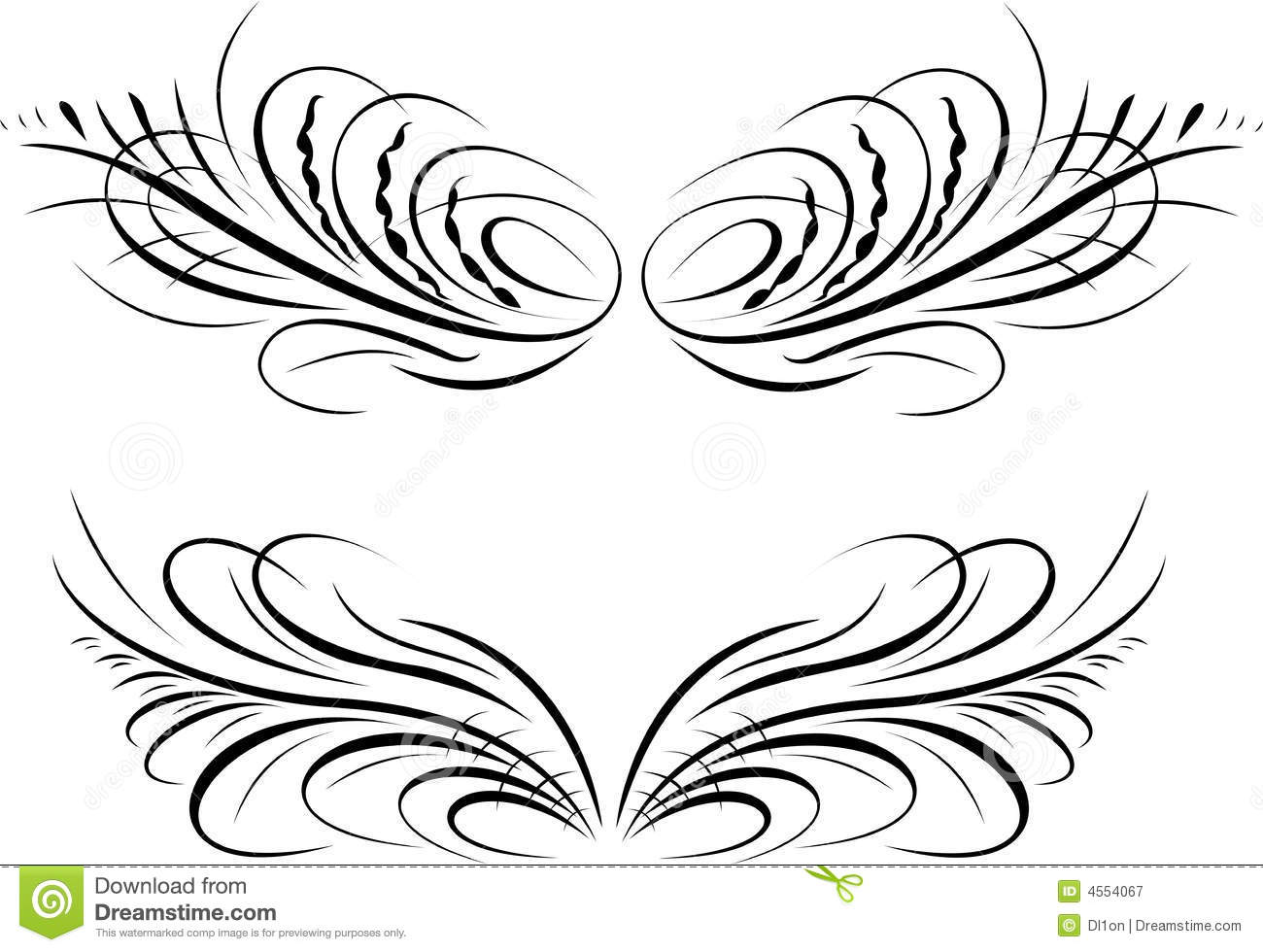 Calligraphy Baroque Curves Royalty Free Stock Photography