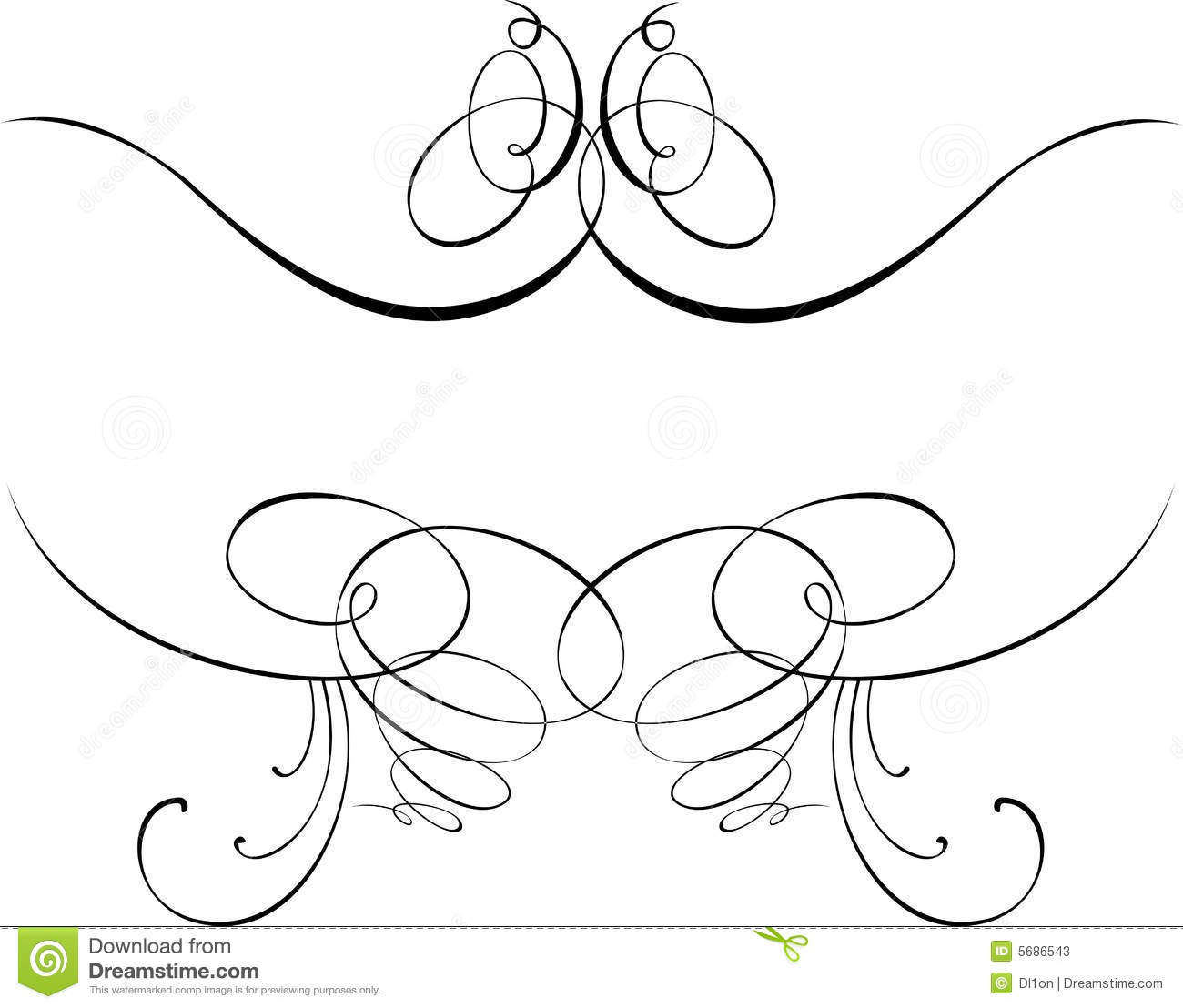 calligraphy baroque curves stock photos image 5686543. Black Bedroom Furniture Sets. Home Design Ideas