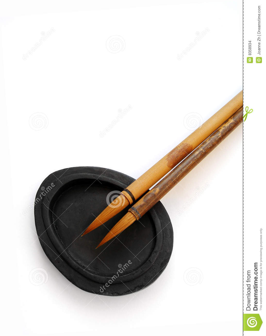 Calligraphy brushes writing materials stock images image