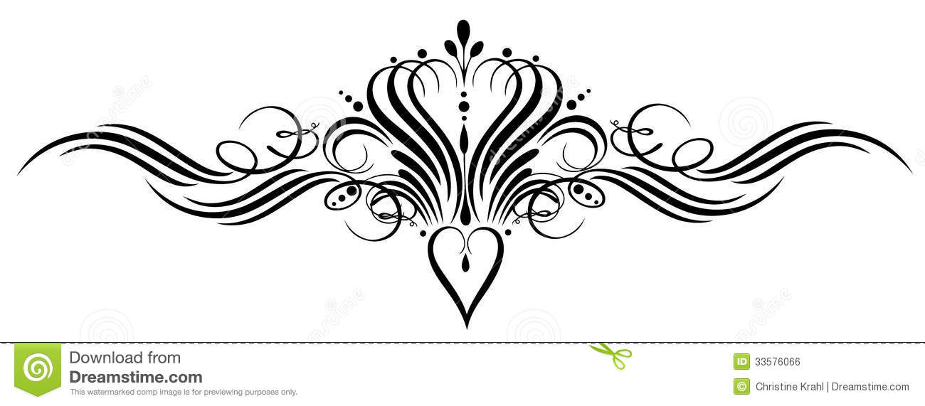 Calligraphy, heart and crown, vintage design element.