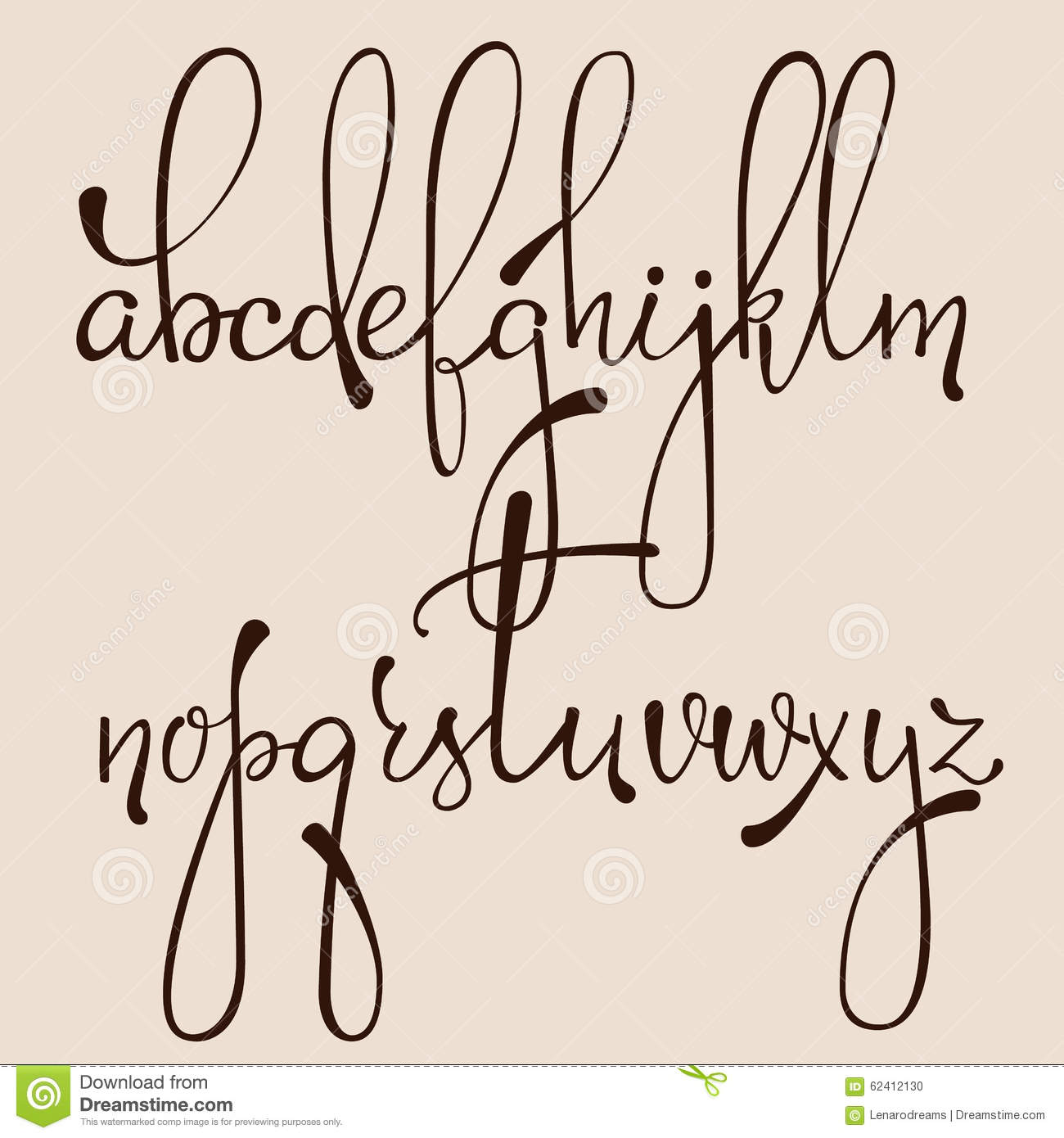Download Calligraphy Cursive Font Stock Illustration Of Drawn