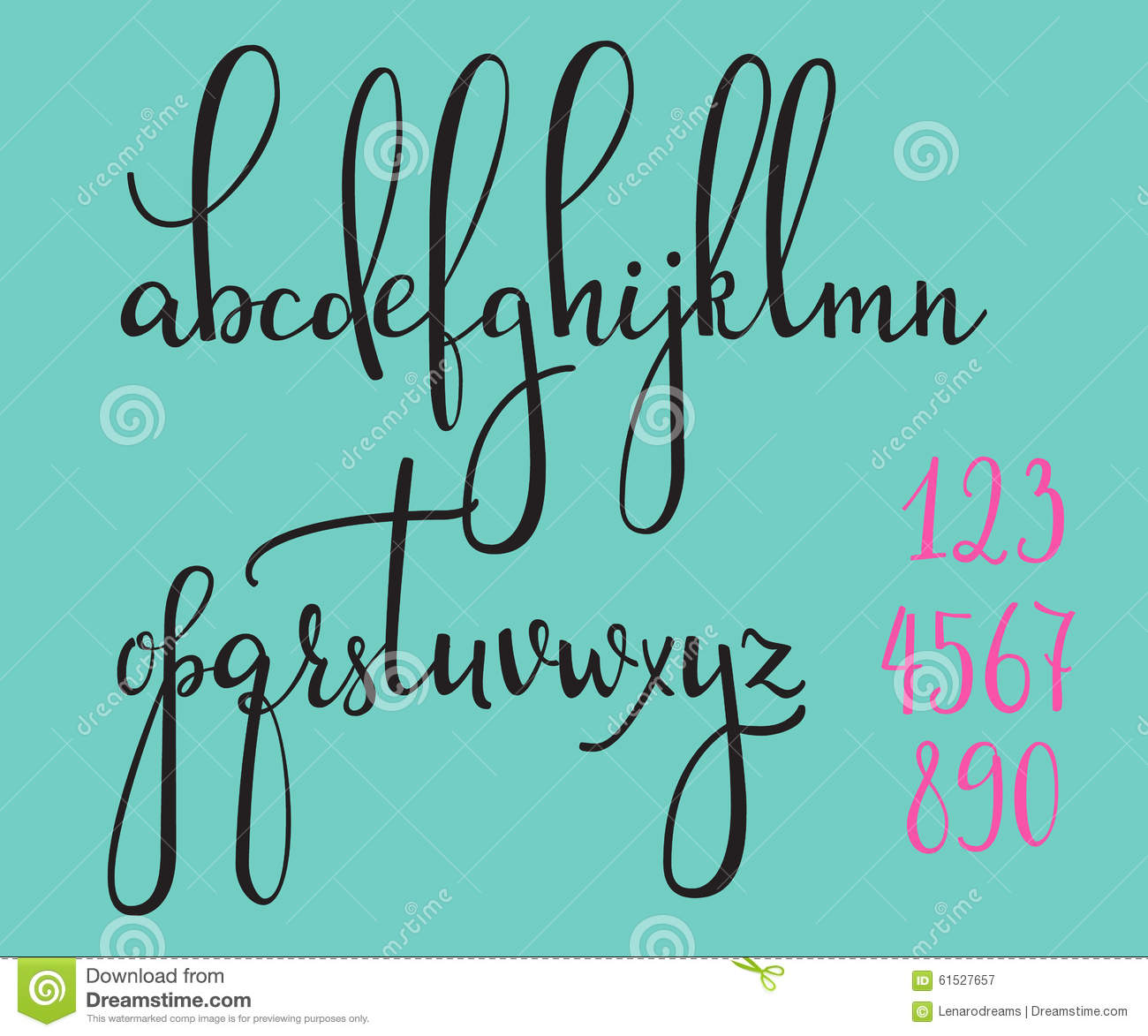 Calligraphy Cursive Font Royalty Free Stock Photography